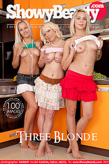 ShowyBeauty - Nena (Ella Jephson), Karina, Nicol (Lily Lake) - Three Blonde